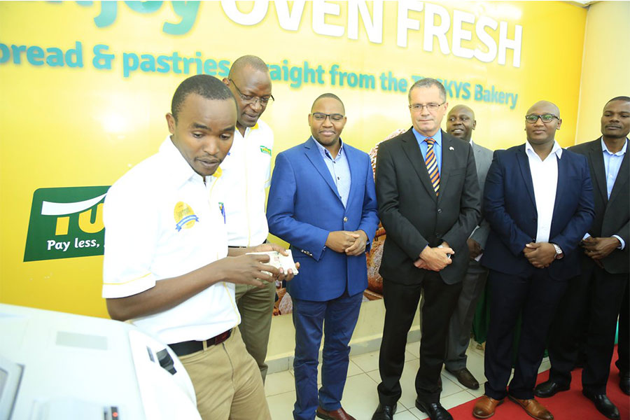 In attendance at our CDM launch was also our CFO,Daniel Ndirangu,DTB Bank Group Head of Operations, Suraj Shah and team, e-CFS and Blue River Reps .Also at the launch was the Ireland Ambassador to Kenya, Mr. O'Neill who was so proud as the machine was manufactured in Ireland.